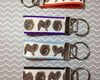 Chow Chow Dog Keychain Fob