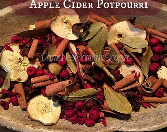 APPLE CIDER Scented Fragrant Potpourri with Rosehips, Berries, Cinnamon, Spices & real Sliced Apples
