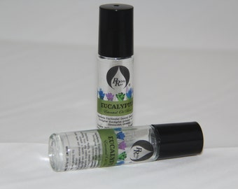 Eucalyptus Essential Oil Blend Roll-On for Aromatherapy on the Go Roll-On 10ml (.33 oz) FREE SHIPPING SHIP