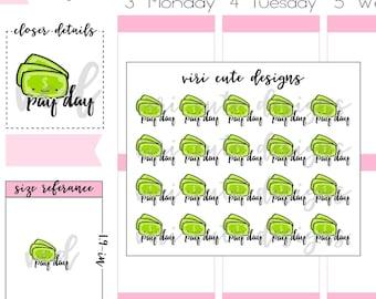 Kawaii Pay Day Planner Stickers |034 | Money, finance, pay day, budget, budgeting, kawaii, hand drawn, planner, stickers, Viri Cute Designs