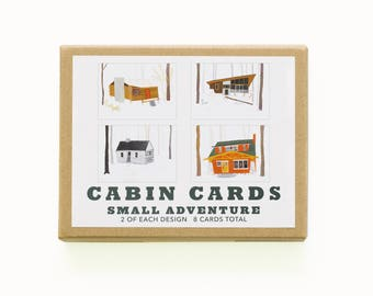 Cabin Cards // Set of 8