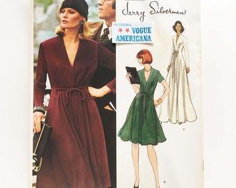 Vogue Americana Sewing Pattern Jerry Silverman Dress 34 Bust Vogue 1118 Vintage 70s