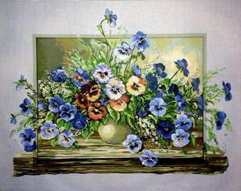 """Gobelin Tapestry Needlepoint Kit """"Flowers"""" cod. 488"""