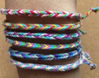 Customizable Thin Fishtail Friendship Bracelet