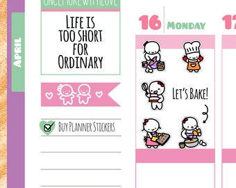 Munchkins -Baking Time Planner Stickers (M172)
