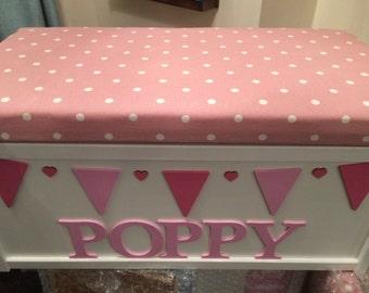 Storage box. Toy box. Personalised toy box. Rose. Keepsake box. Wooden box. Memory box. Toy storage. Baby shower. Xmas