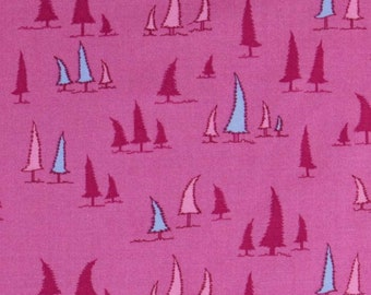 1 Yard Woodland Wonderland LEANING TREES Evergreen Fantasy Forest JY12 Pink Jay McCarroll Free Spirit Quilting Sewing Fabric