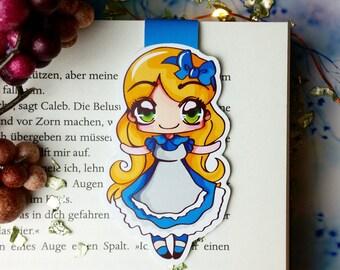 Magnetic bookmark 'Alice in Wonderland'