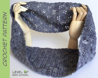 Jinora cowl, Avatar scarf and shawl series, CROCHET PATTERN || Instant Download