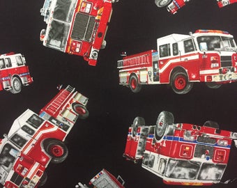 Red Firetrucks on Black background-fire engine