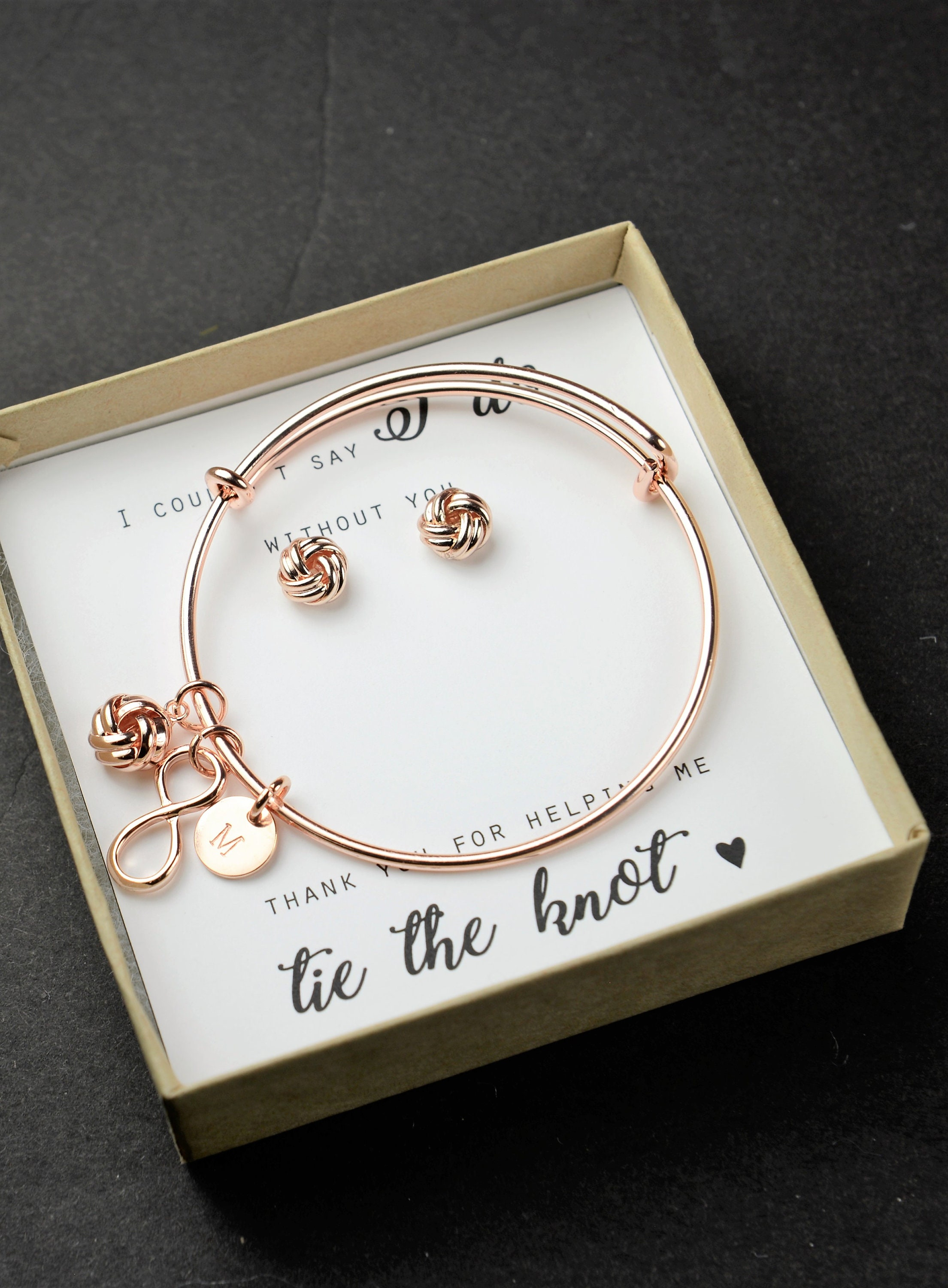 Knot Bracelet Bridesmaid Thank You for Helping us Tie the Knot ...