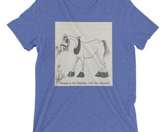 Grassy horse t-shirt