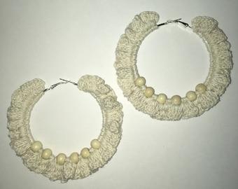 Crochet Ruffled Boho Earrings