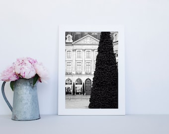 Black and White Paris Photography Print - Paris fine art print, Christmas print, Paris wall decor