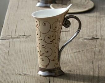 Ceramic Mug, Tea Mug, Esspresso cup ,Lace cup, Ceramics and pottery, Ceramic cup, Tea cup, Coffee cup, Coffee mug, Handmade mug, Unique mug,
