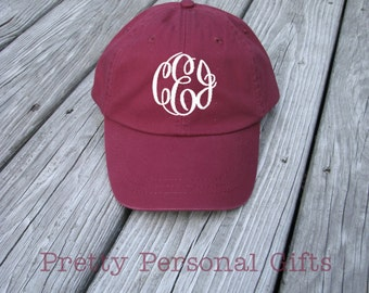 Baseball Hat with Monogram - baseball cap monogrammed