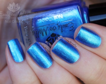"Nail polish - ""Empty Journal""  blue to purple duochrome foil"