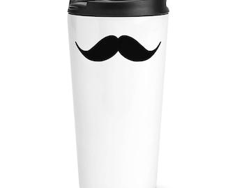 Handlebar Moustache Travel Mug Cup