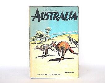 Vintage Children's Book - Australian Gift - Australia Decor - Australia Picture Book - Australia Travel Gift - Australia History Book