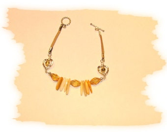 EHMB #17  Bright & Sunny AMBER MIX Bracelet
