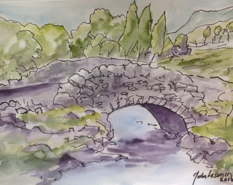 Stone Bridge 2017, Ink and Watercolor OPENING OFFER until the end of MAY!