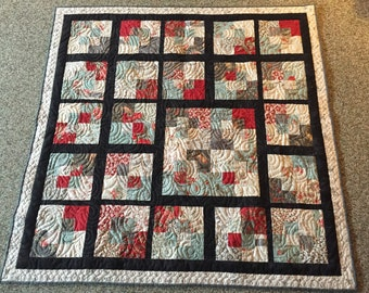 geometric - off centered quilt!  free shipping