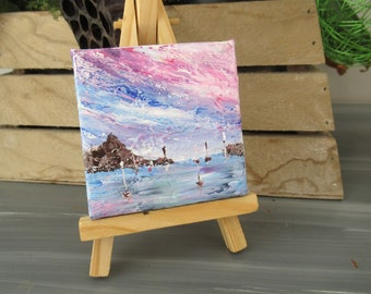 Mini abstract Ocean Art abstract painting