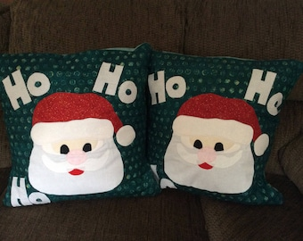 Santa Quilted Pillow Covers