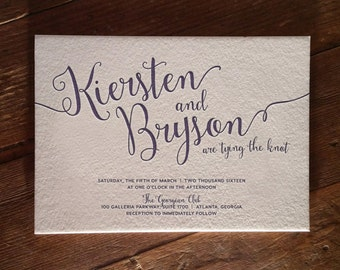 Fancy-Free Design Letterpress Invitation DEPOSIT
