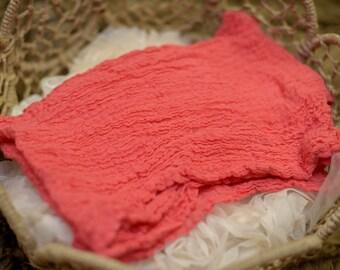 Strawberry Fields Newborn Cheesecloth Wrap