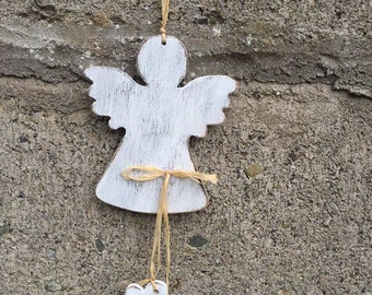 Handmade Wooden White Angel