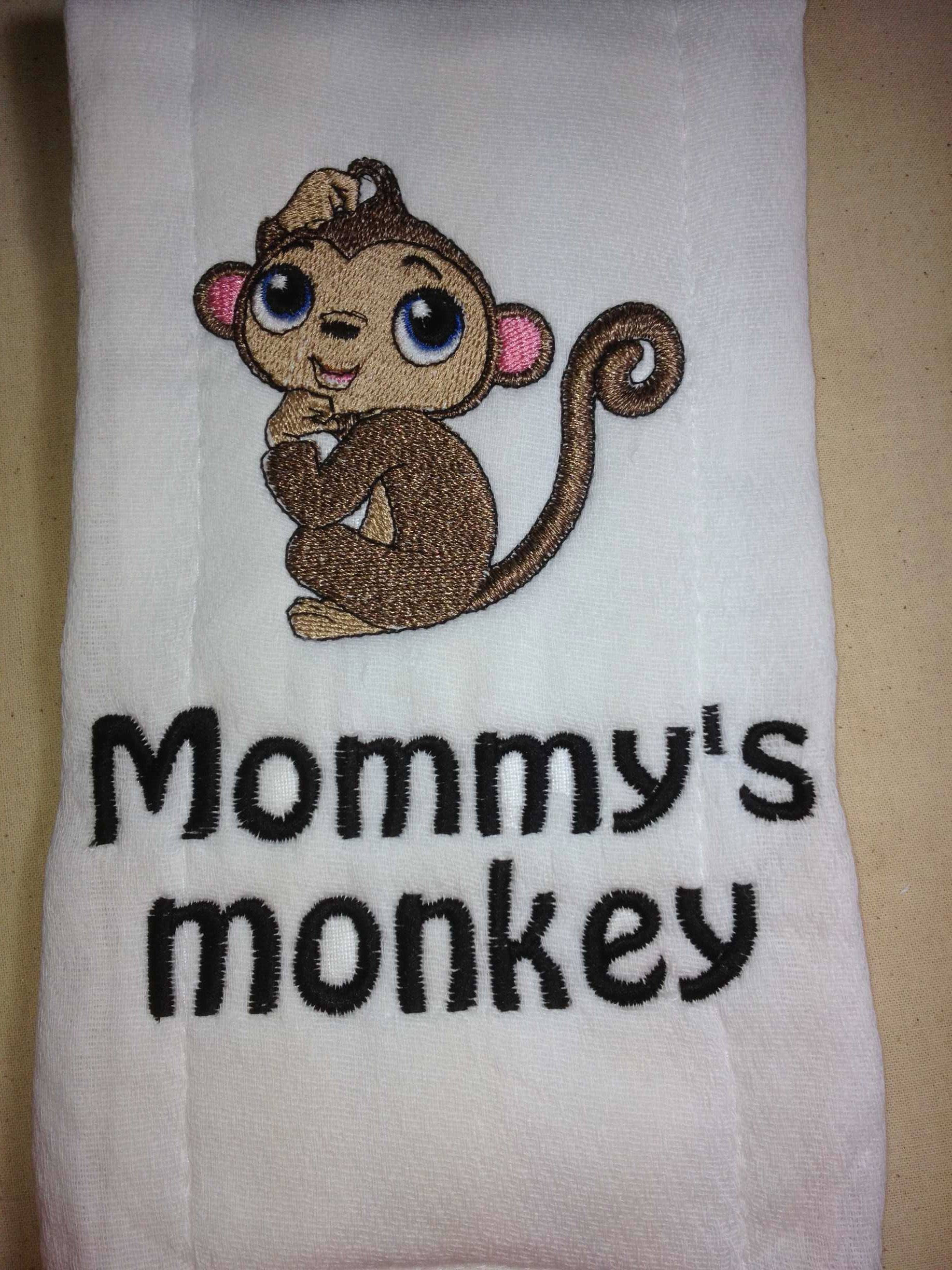 Monkey burp cloth personalized burp cloth personalized baby baby monkey burp cloth personalized burp cloth personalized baby baby shower gift embroidered towel cloth diaper baby gift new parents negle Images