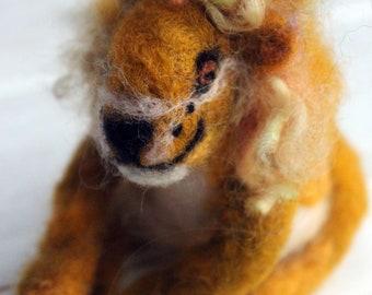 Needle felted Leo the Lion