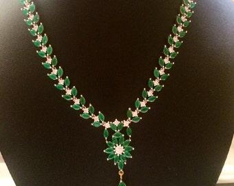Green bib necklace, Nizam Gulubandh Necklace,Indian Wedding Jewelry,Statement Jewelry,Statement Necklace,Green Necklace, bib necklaces