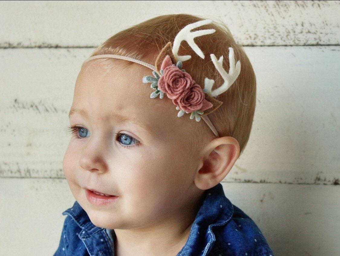 Deer headband felt flower headband felt flower crown zoom izmirmasajfo Gallery