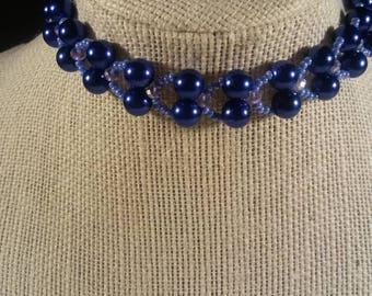 Bracelet Beaded , Rondelle,Pearls, and Czech Seed Beads Bracelet,