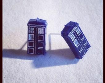 TARDIS Inspired Acrylic Earrings