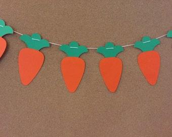 Carrot garland, paper garland, Easter garland, Easter banner,   10 feet long