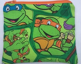 Teenage Mutant Ninja Turtles Zipper Pouch - TMNT, Turtle Power.