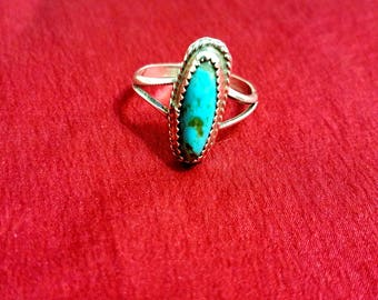 Silver Turquoise Ring for her