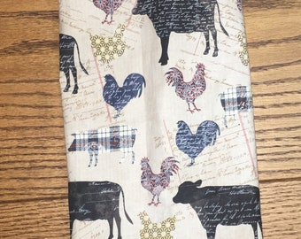 Down on the Farm Patchwork Print Grocery Bag Holder- Plastic Bag Holder-