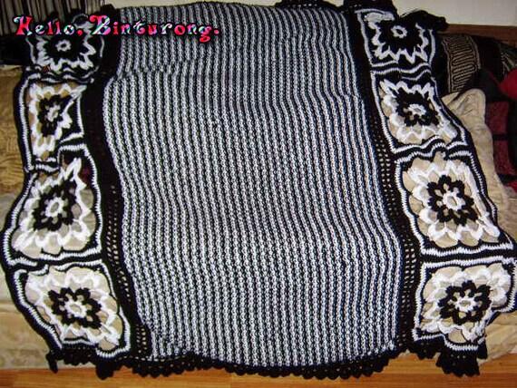 schwarz und wei werfen decke gestrickt und decke gestreifte. Black Bedroom Furniture Sets. Home Design Ideas