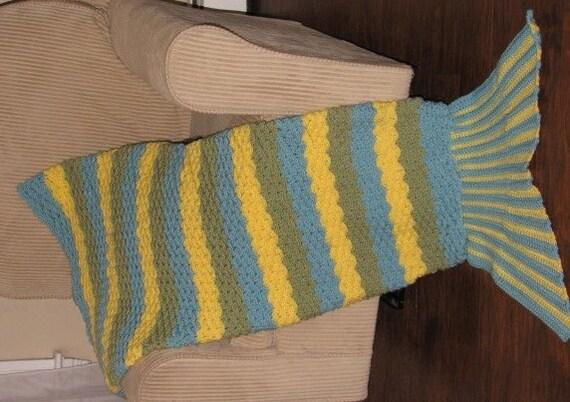 Crochet Pattern Mermaid Tail Afghan Mermaid Blanket