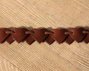 Leather Heart Bracelet