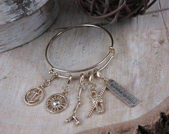 5 Charm Bangle Bracelet