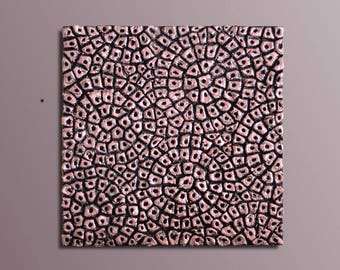 3D Wall Sculpture - Square Wood Wall Art - Textured Abstract Painting - Wood Wall Decor - Wall Relief - Square Wall Decor