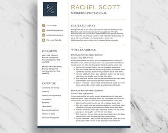 Marketing resume etsy creative resume template for word modern resume design cv template for word 2 yelopaper Images