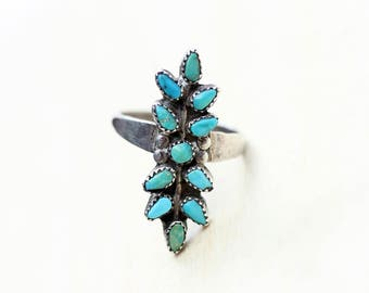 Silver Turquoise Ring, Sterling Silver Ring, Turquoise Ring, Turquoise and Silver Ring, 925 Ring, Blue Turquoise Ring, Blue Ring, Size 6.5