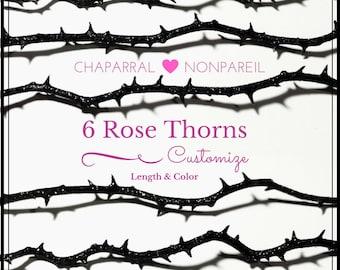 Gothic Rose Thorn Stem, Gothic Wedding Bouquet, DIY Halloween Centerpiece Decoration, Alternative Bouquet Accent, Goth Valentines Day Decor