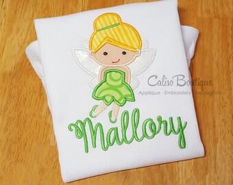 Tinker Fairy Princess - Personalized Applique Boutique Shirt - Monogram Shirt for Girls - Princess Shirt